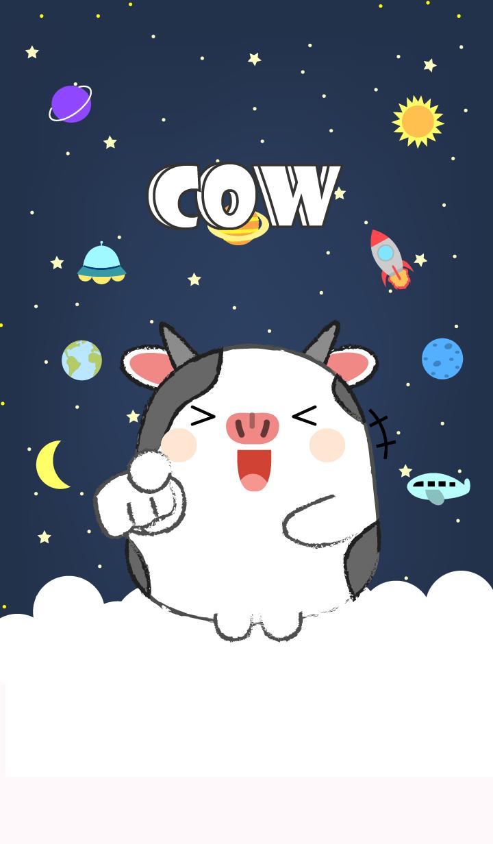 Emotions Cow On Galaxy