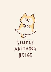 Simple Akita dog beige