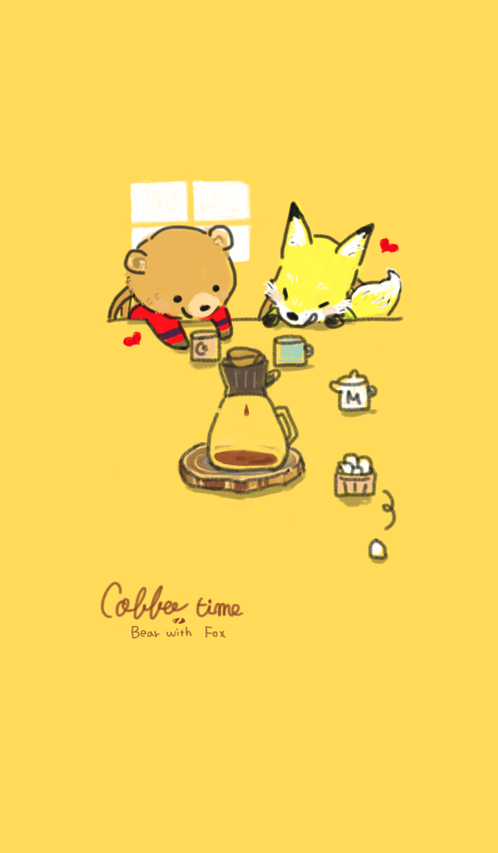 bear&fox coffee time yellow theme