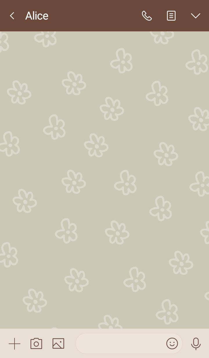 White flower Darkish Beige5 from Japan