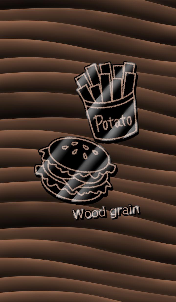 Wood grain -Pin badge-