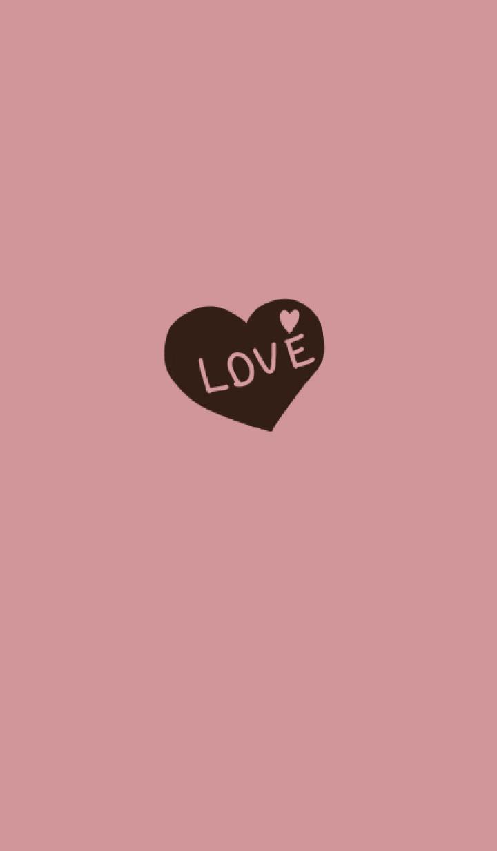 Dull pink love heart