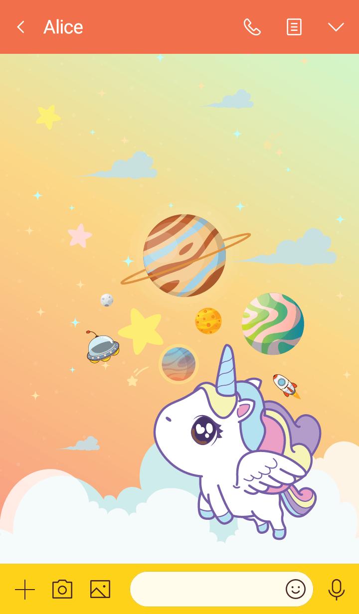 Unicorn Love Galaxy Hot Pastel