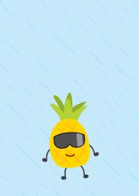 cute pineapple wear glasses