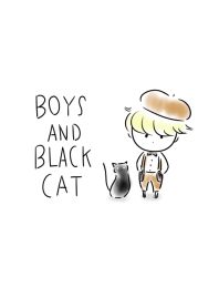 Boys and black cats