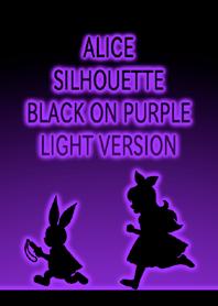ALICE SILHOUETTE BLACK ON PURPLE LIGHT