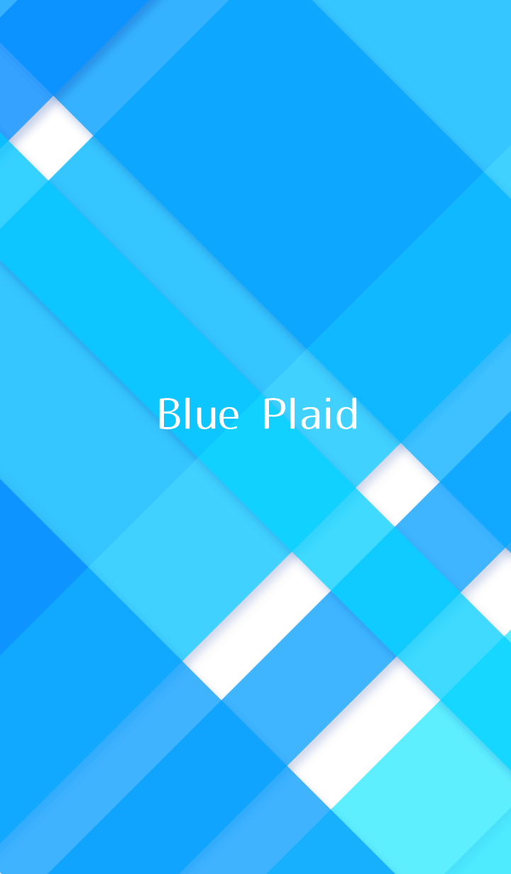 - Blue Plaid - refreshing