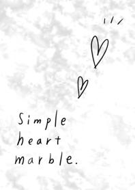簡單的心大理石灰色