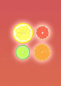 ธีมไลน์ Adult citrus red