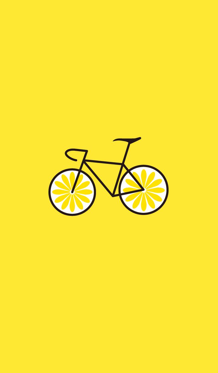 ชุดรูปแบบจักรยานสีเหลือง(มะนาว)