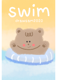 Cherry bears swim
