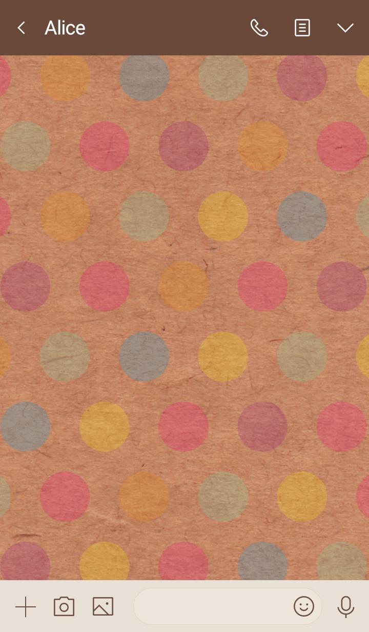 Kraftpaper colorful dot smile5
