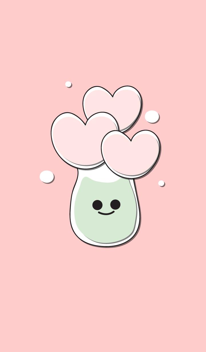 Heart flower in the smily vase 6