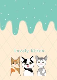 lovely kitten and the gang