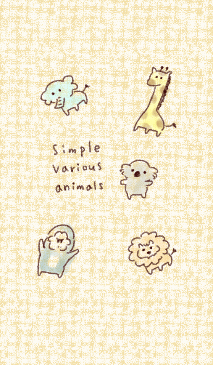 Simple various animals.
