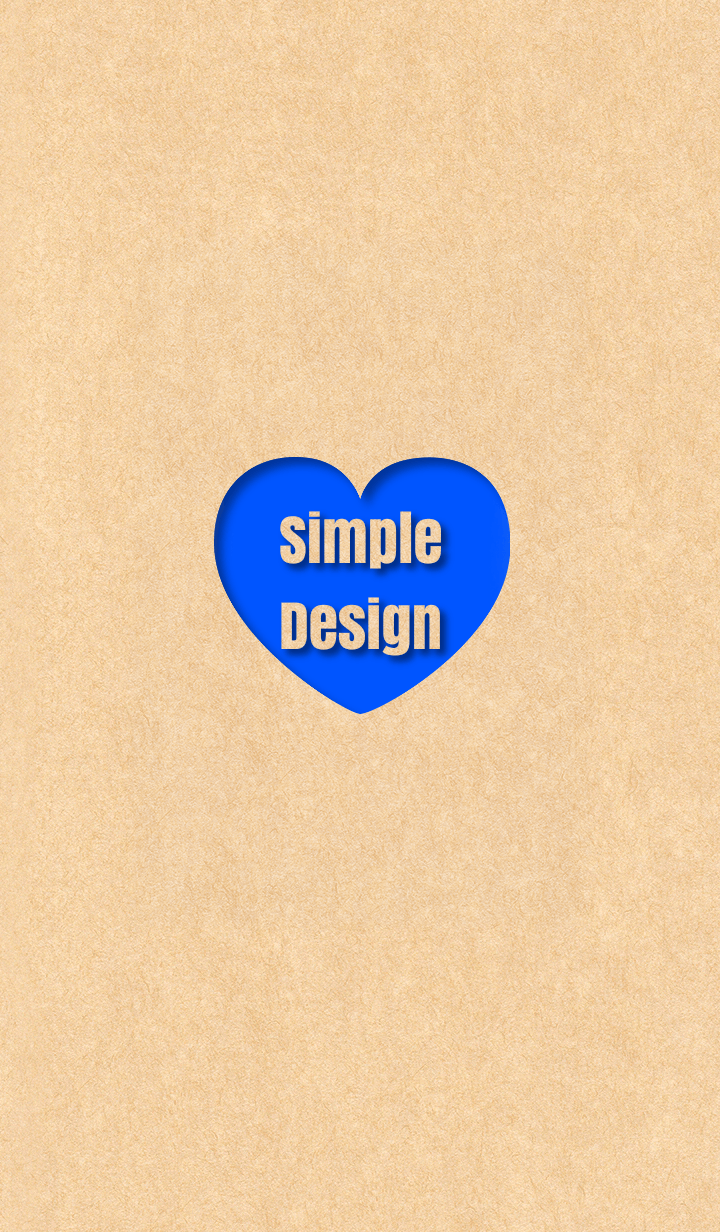 Craft Simple Design Heart Blue ver.