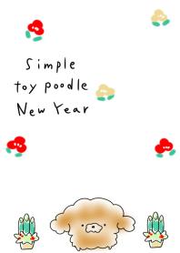 簡單的 玩具貴賓犬 新年