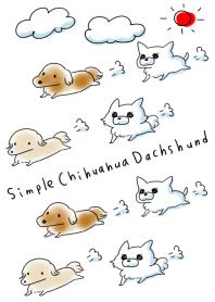 簡單 奇瓦瓦 臘腸犬