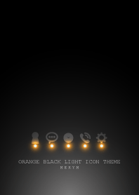 ORANGE BLACK LIGHT ICON THEME