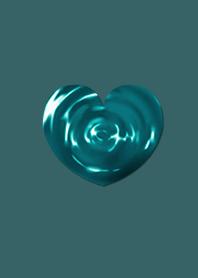 Blue Ripple Heart
