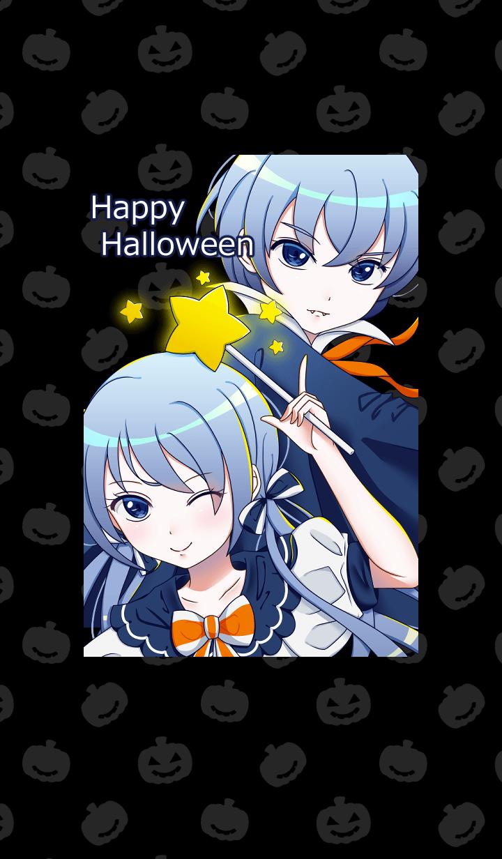Blue Siblings Halloween