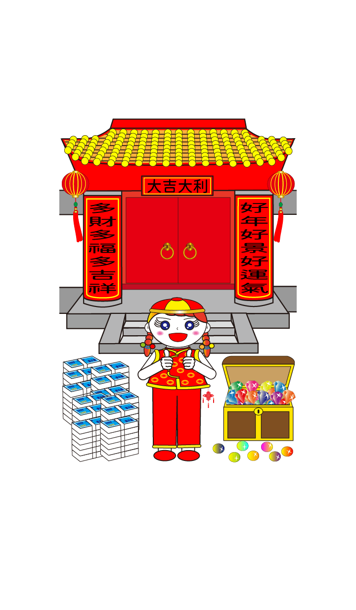 Doll girl-Happy Chinese New Year-3