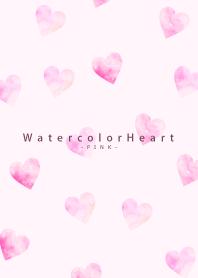Watercolor Heart-PINK 25