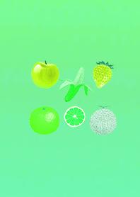All Green Fruit Gradation