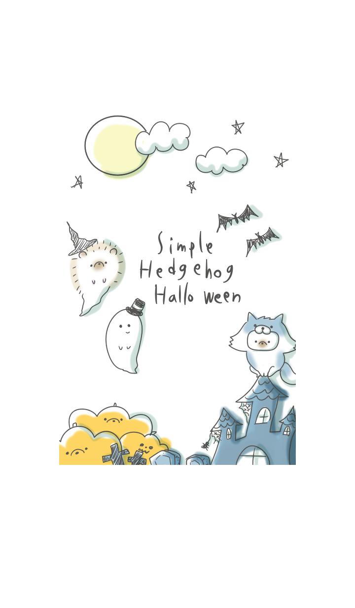 Hedgehog Halloween simple Theme
