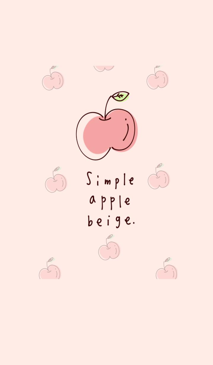 シンプル りんご ベージュ