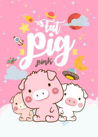 Fat Pig Galaxy Love Pink