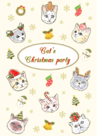 Cat's Christmas Party