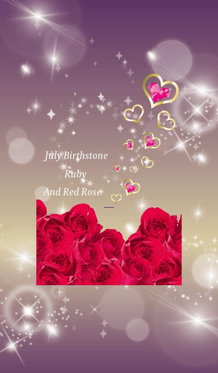 Purple : Birthstone July Ruby