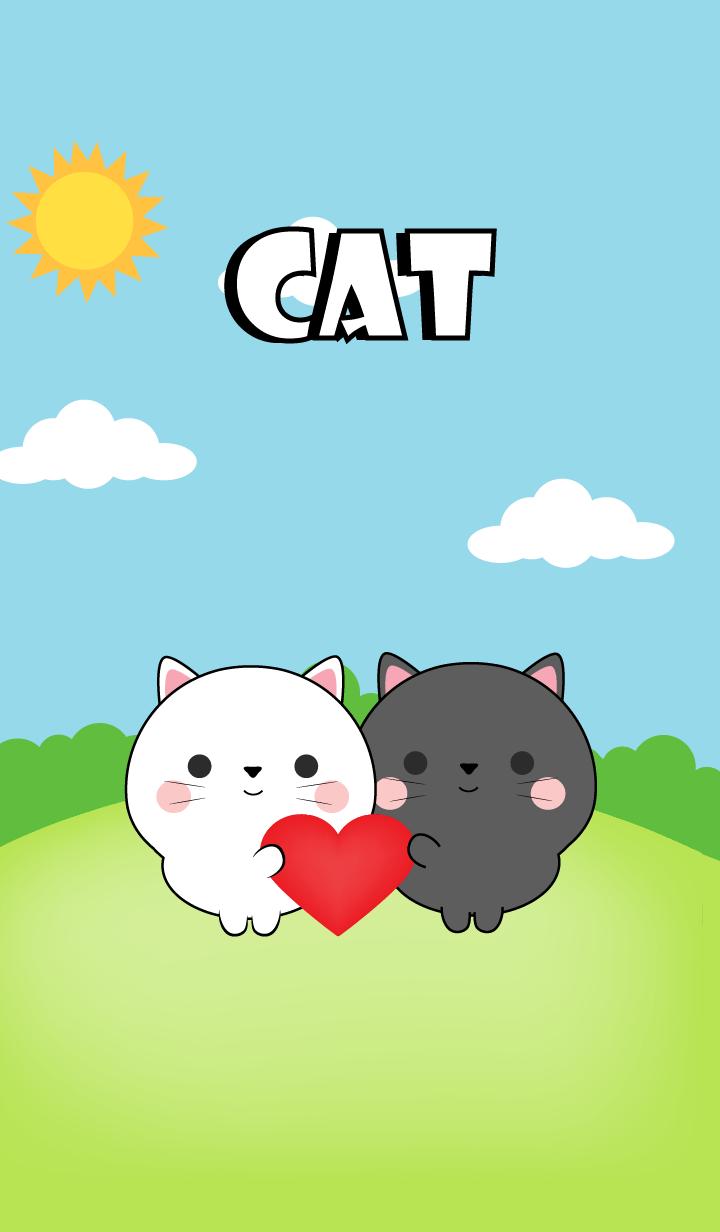 Mini Black Cat & White Cat Theme (jp)
