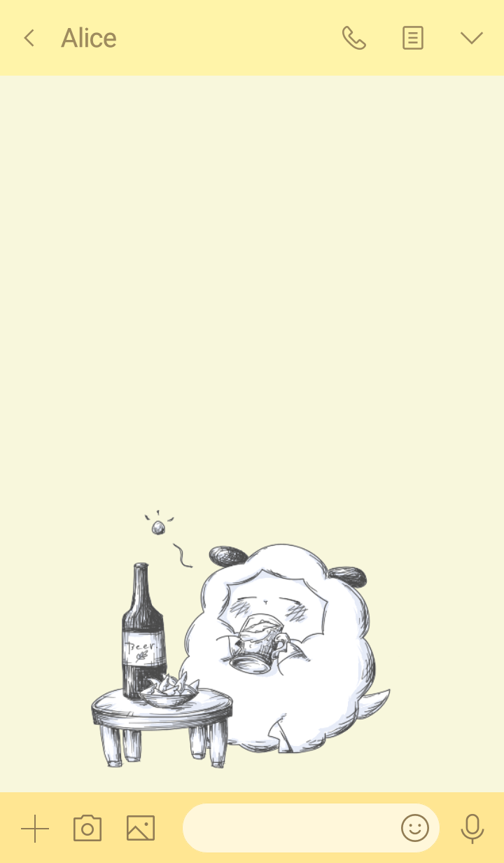 Sheep and beer(from japan)