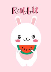 Simple Cute White Rabbit V.2