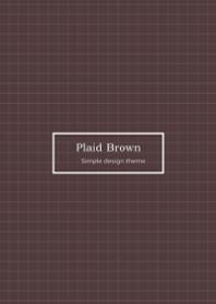 -Plaid Brown-