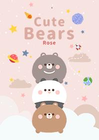 浩瀚宇宙 可愛 寶貝 熊 玫瑰 紅