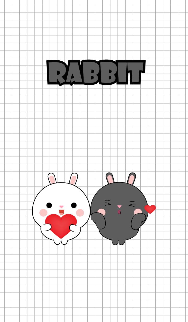 Mini Cute Black & White Rabbit (jp)