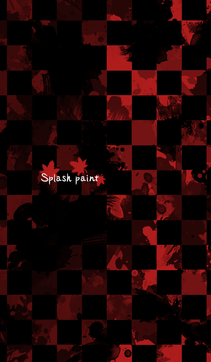 Splash paint -Red autumn-