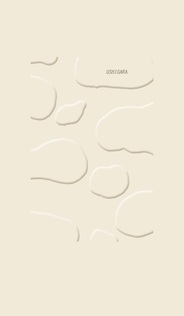 The cow pattern. Beige.
