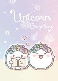 Unicorn on galaxy.
