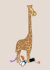 動物園可愛長頸鹿