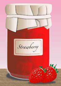 Theme of jam (strawberry)