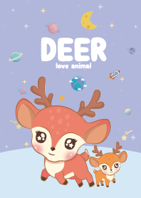 Deer Cutie Galaxy Violet
