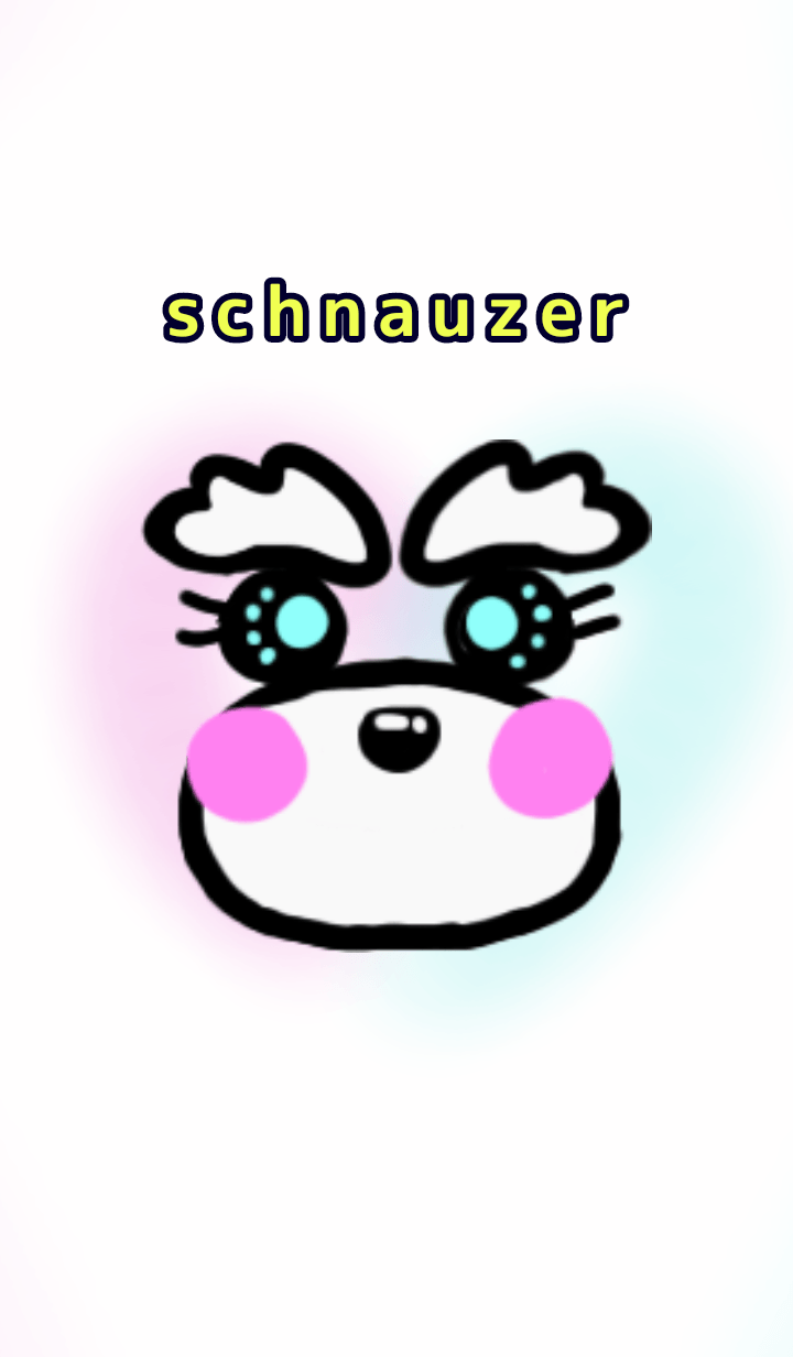 colorful schnauzer dress up 1