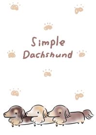 簡單 臘腸犬 可愛