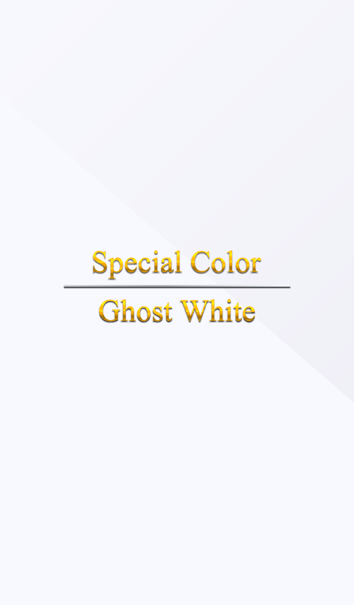 Special Color Ghost White