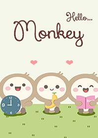 Monkey of green