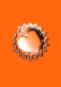 Orange Jewelry Heart